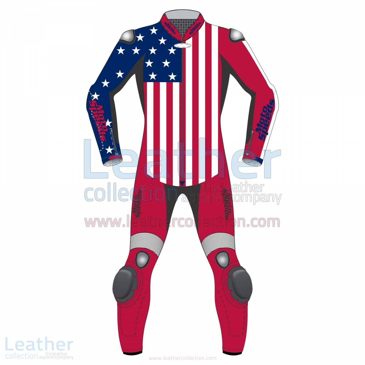 American Flag Leather Motorcycle Suit