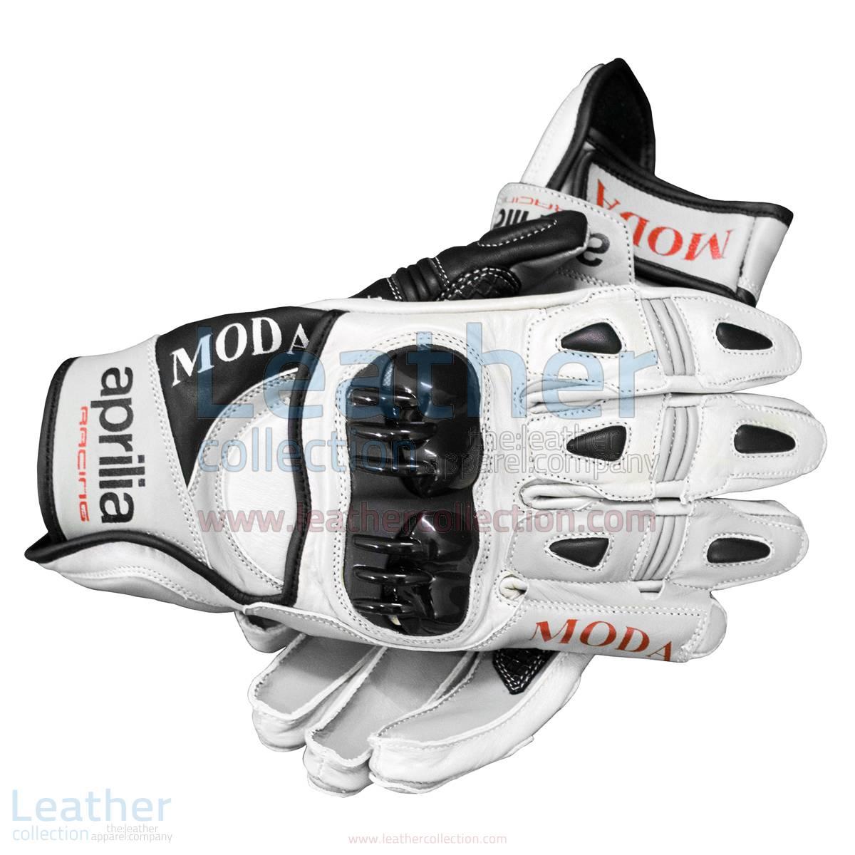 Aprilia Short Leather Riding Gloves