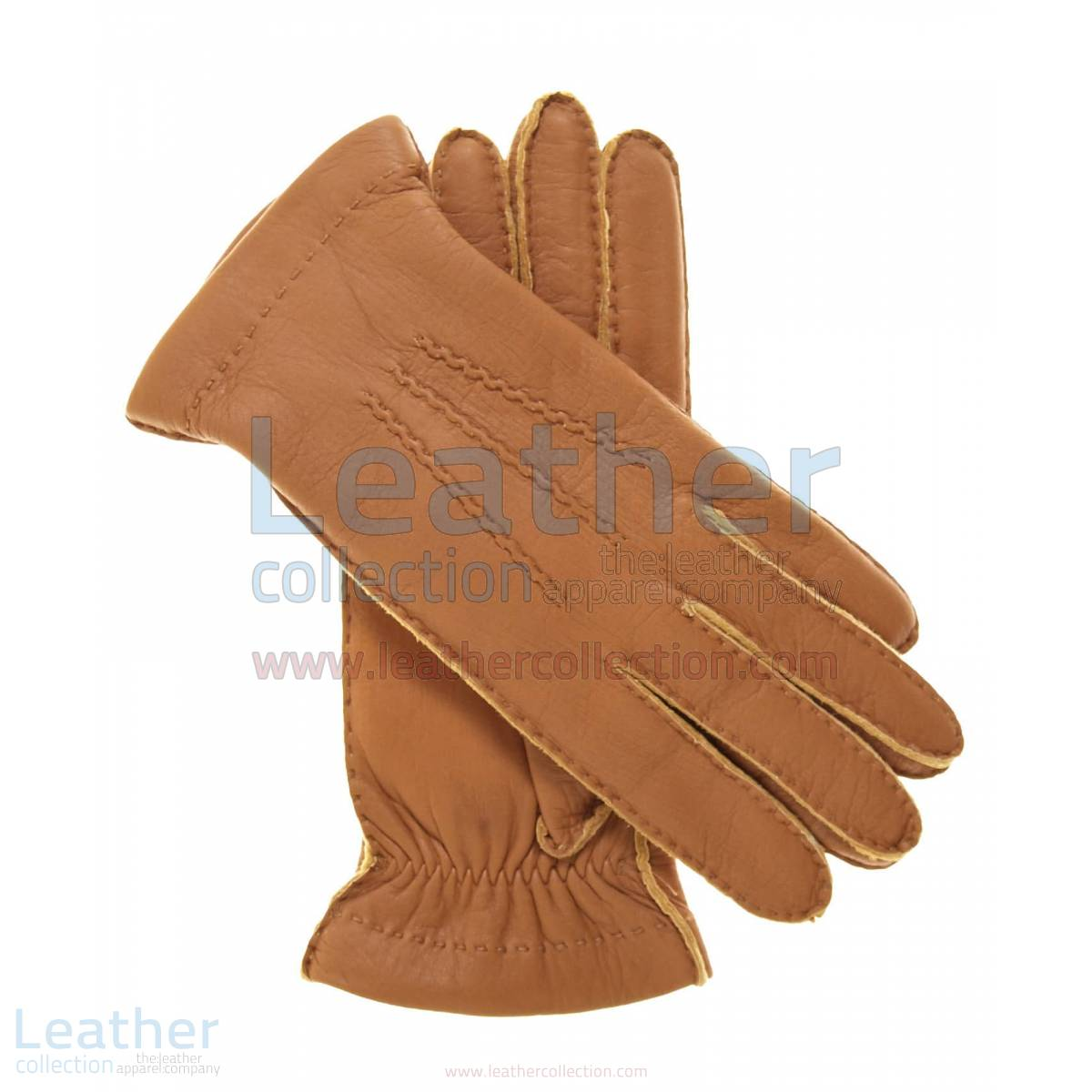 Cashmere Wool Lined Lambskin Gloves