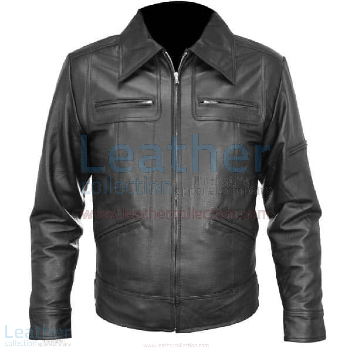leather jacket black shirt