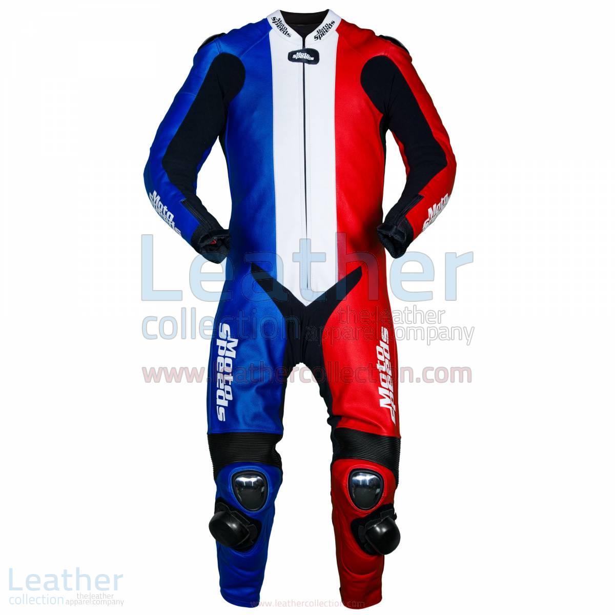 France Flag Motorbike Race Leathers