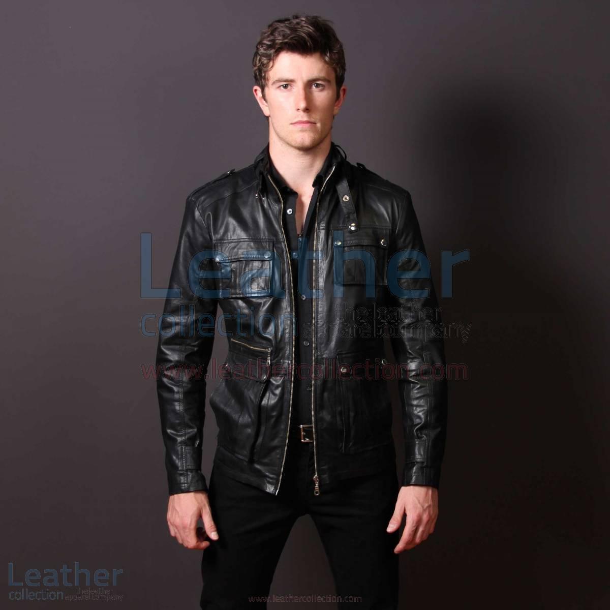 Men Leather Fashion Rockwell Jacket