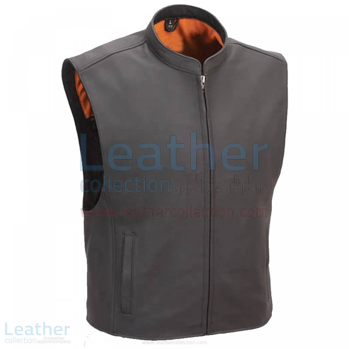Motorcycle Club Vest with Seamless Back