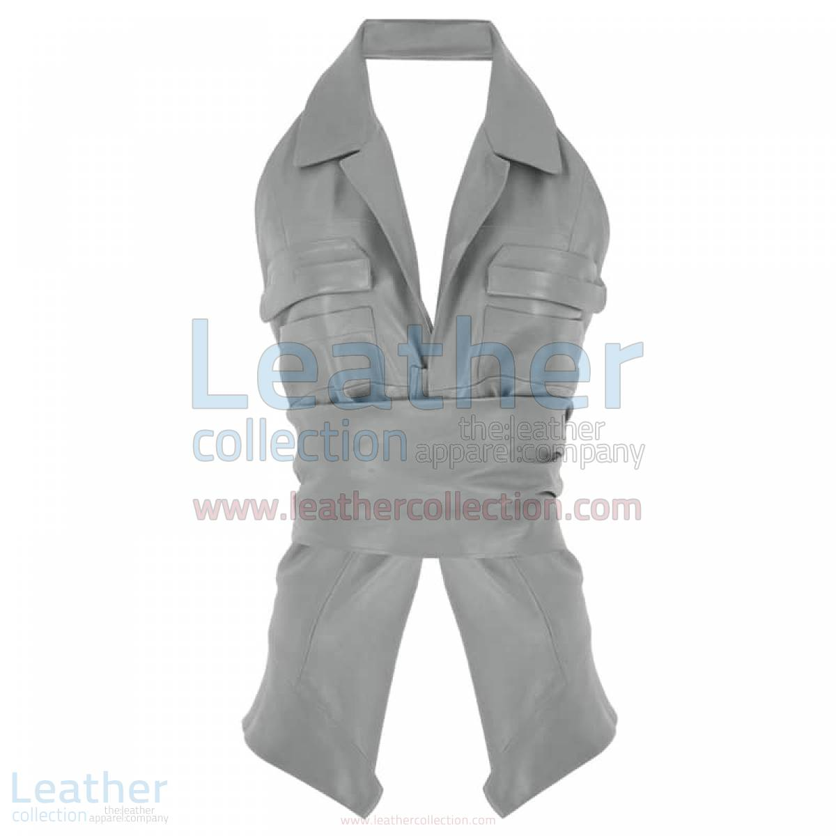 Naked Belted Fashion Leather Vest