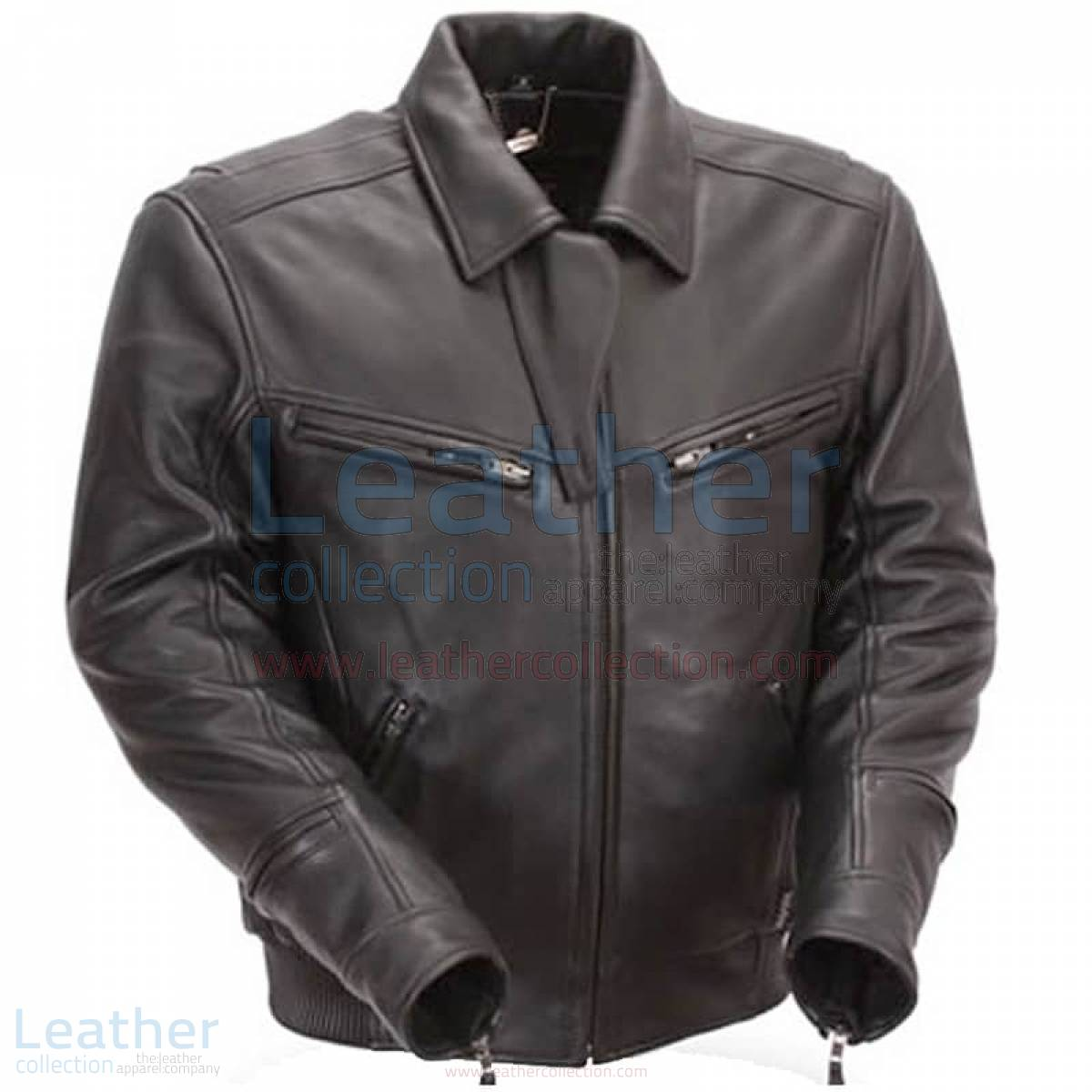 Naked Black Leather Bronson Hybrid Motorcycle Jacket