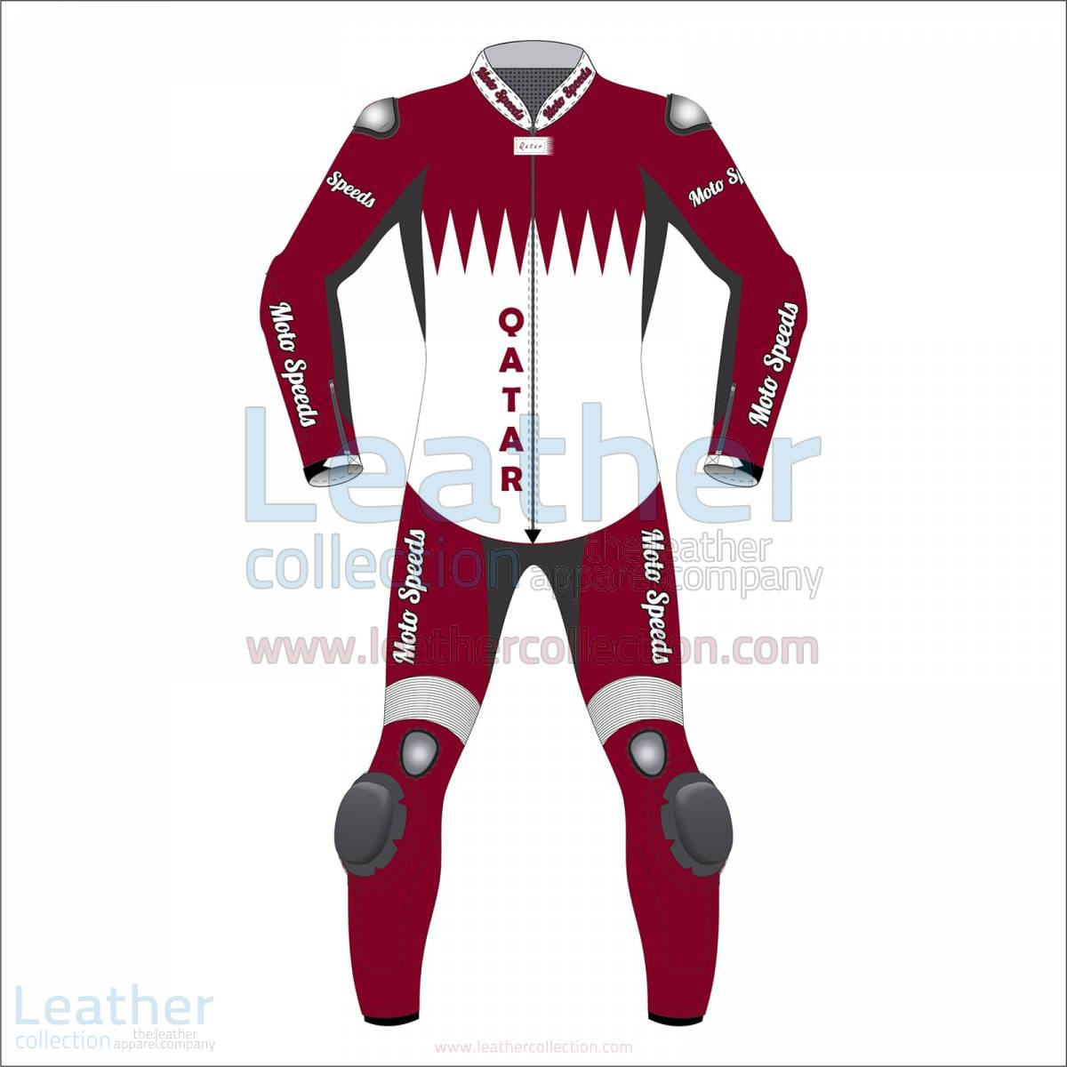 Qatar Flag Motorbike Race Suit