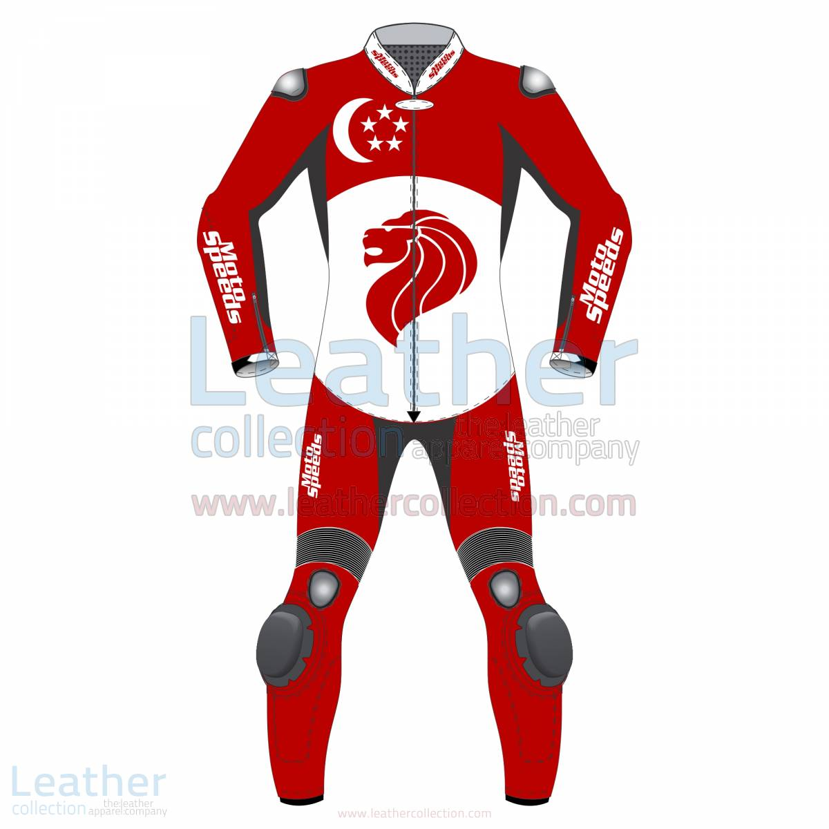 Singapore Flag Moto Suit