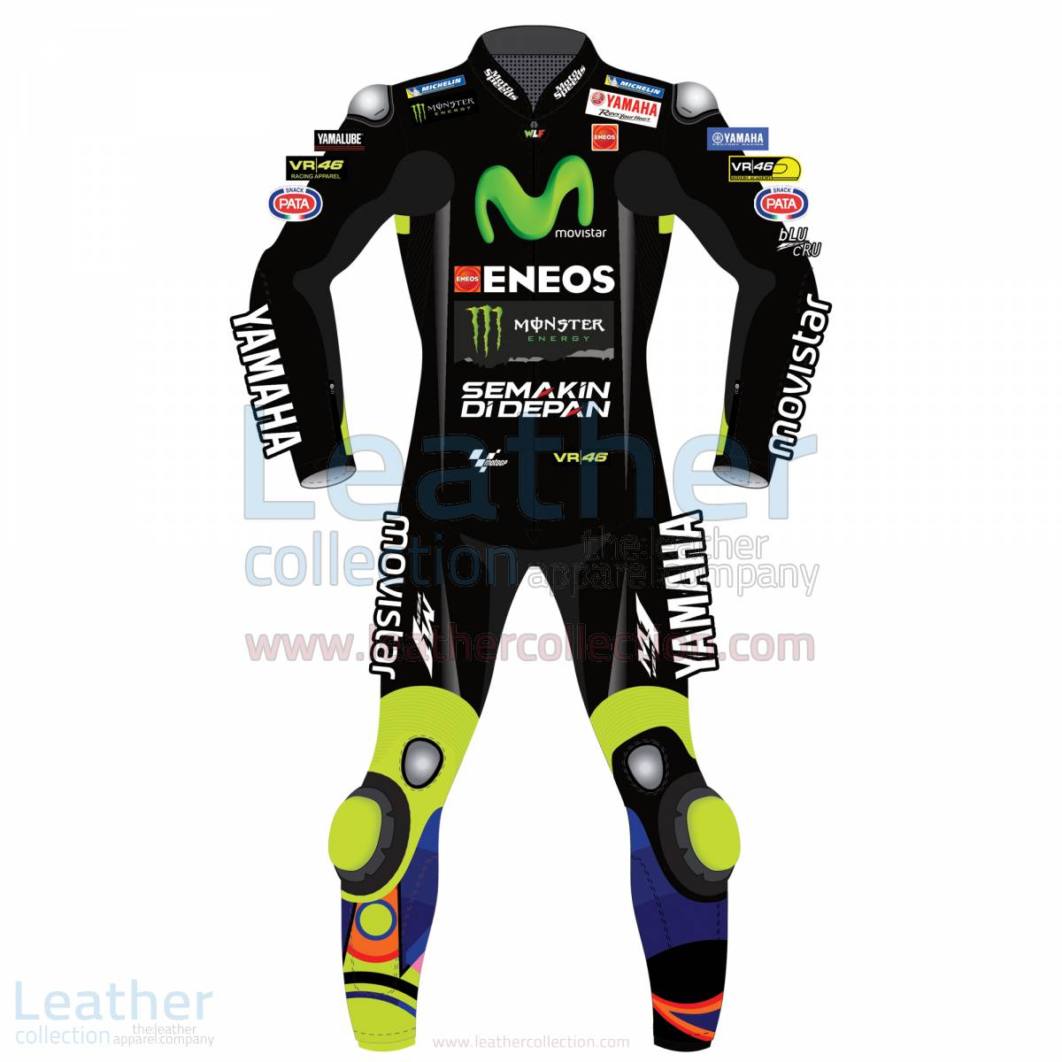 Valentino Rossi Movistar Yamaha Racing 2017 Suit Black