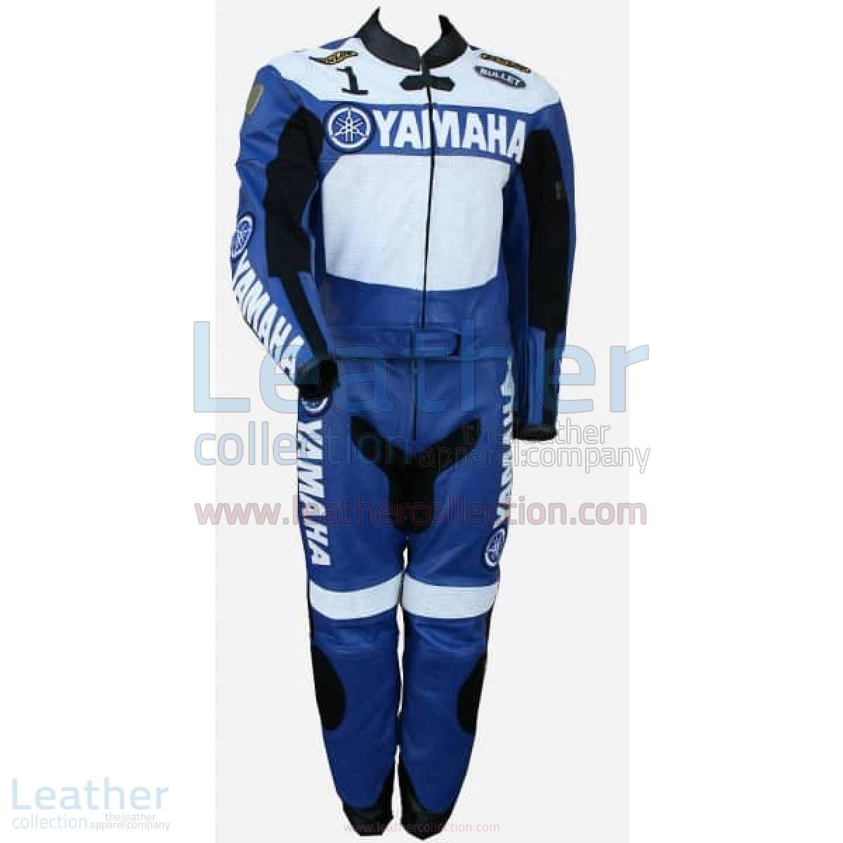 Yamaha Racing Leather Suit Blue/White